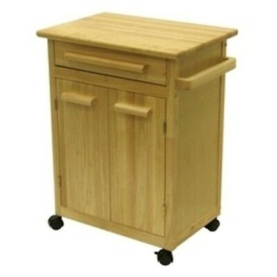 Winsome Wood Single Drawer Kitchen Cabinet Storage Cart Natural 25 5