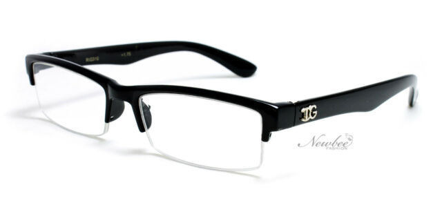 Choose Your Color Mens Half Frame Reading Glasses Classic Fashionable Style