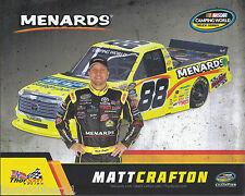 "2017 MATT CRAFTON ""IDEAL DOORS MENARDS THORSPORT"" #88 NASCAR TRUCK POSTCARD"