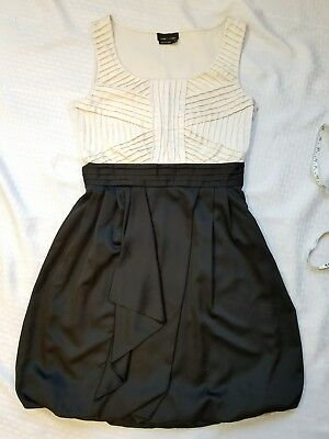 Womens Bcbg Max And Cleo Blk And Ivory Cocktail Dress With