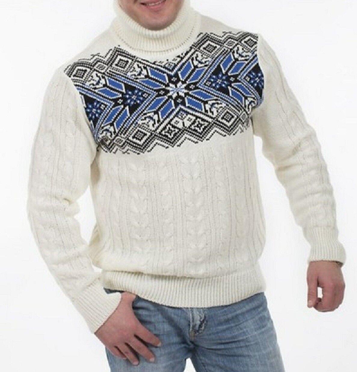 Natural Style Exklusiver Herren Rollkragenpullover aus 100% Wolle