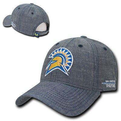 Hüte & Mützen Kleidung & Accessoires Ncaa Sjsu San Jose State University Spartaner Strukturiert Denim Baseballkappen Schnelle WäRmeableitung