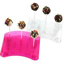 Acrylic 20 holder holes cake pop lollipop cupcake display stand tower bases BH