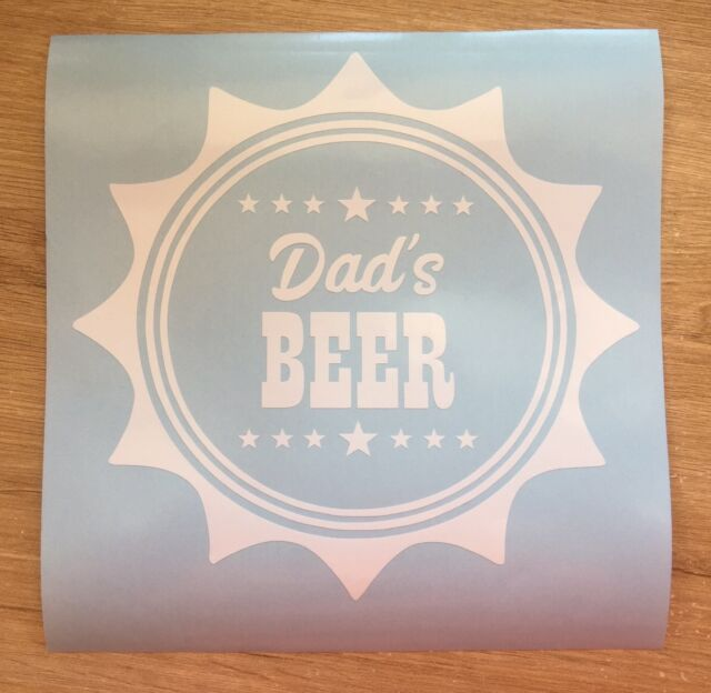 2x Dads Beer Decal Vinyl Sticker Hamper Crates Fathers Day Birthday Gifts