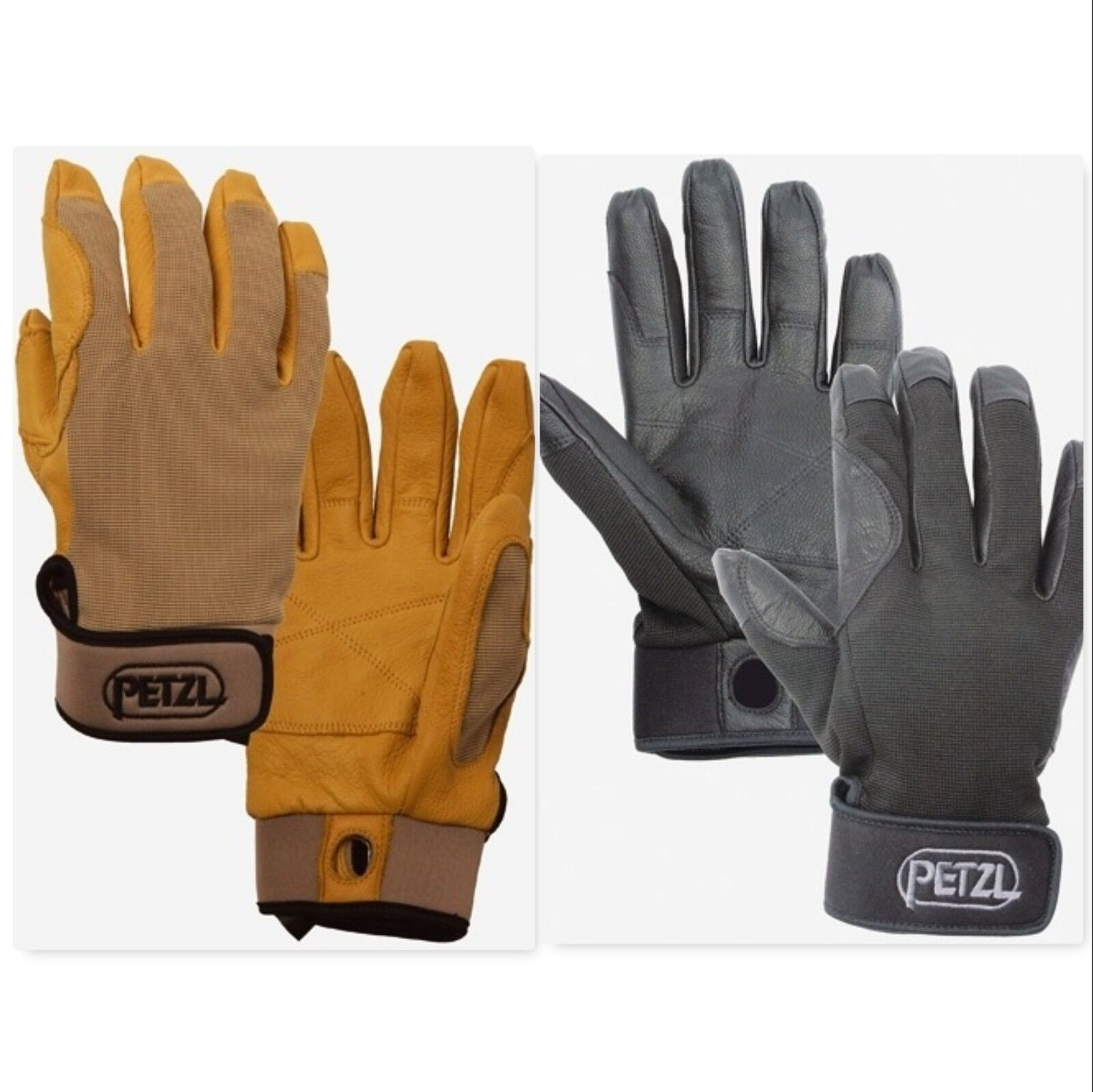 Petzl Cordex Belay Rappel Protection Gloves High Quality Durable (Tan/Black)