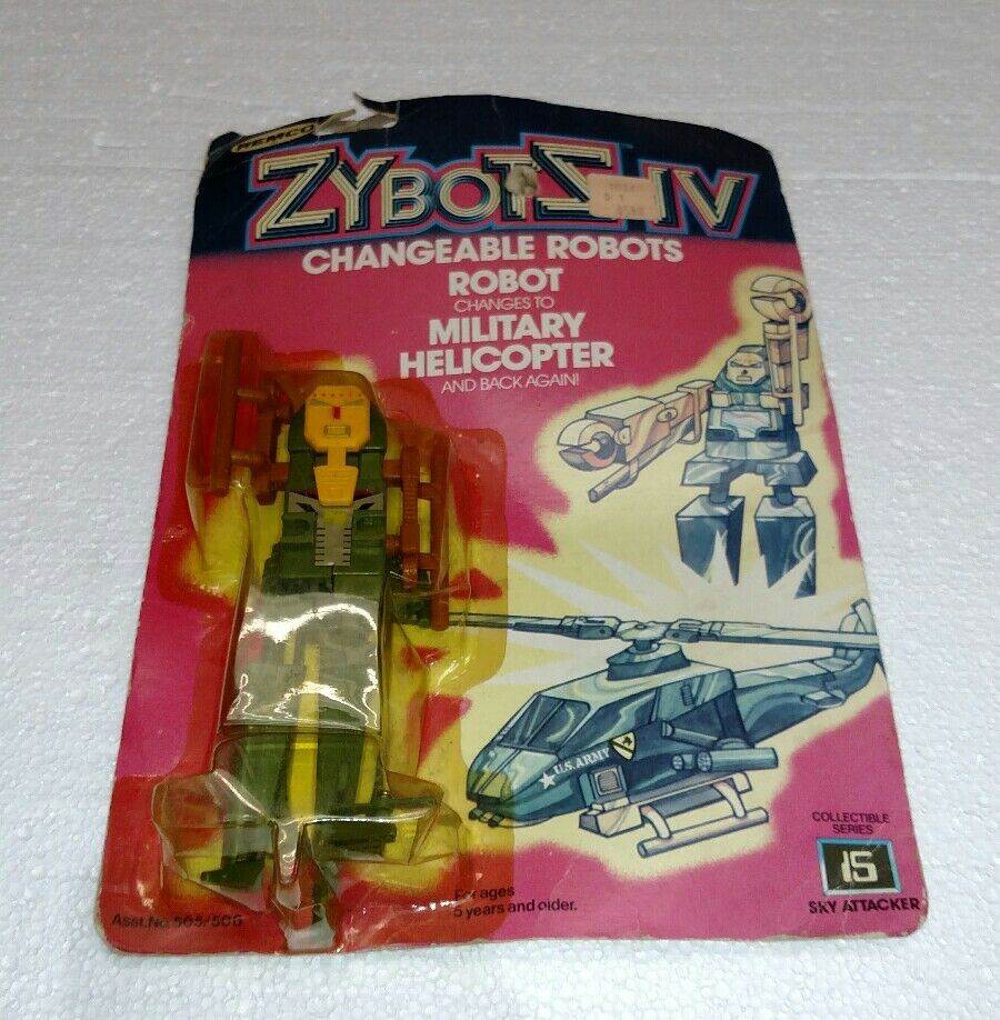REMCO 1984 ZYBOTS IV ROBOT TO MILITARY HELICOPTER NEW