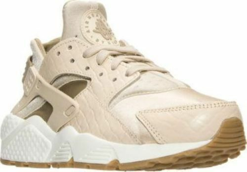 Authentic Nike Air Huarache Run PRM Oatmeal Khaki Sail Gum 683818 102 Women sz