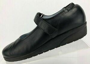 Beautifeel-Mary-Jane-Black-Leather-Casual-Comfort-Work-Wedge-Womens-38-US-7-7-5