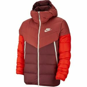 veinte zorro vía  Nike Men's Brisaveloz Chaqueta de Plumón Relleno Cedro/Noche Marrón/Rojo  928833-661 D | eBay