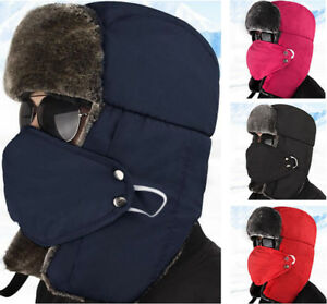 Details about Outdoor Ushanka Trapper Aviator Ear Flap Hats Camping Hiking Hat  Winter Ski Mask 49bce96f720