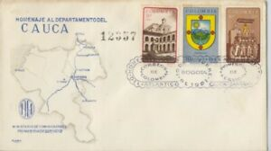 COLOMBIA 1961 Atlantico Department  FDC - unaddressed/SOILED @D2328