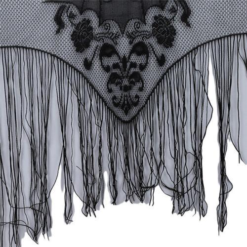 Lace Bat Window Panel Black Spooky Halloween Zombie Party L