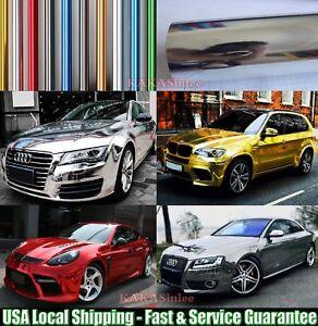 Quick-Super-Real-Mirror-Car-Glossy-Flat-Chrome-Vinyl-Wrap-Film-Sticker-PT-ABUS