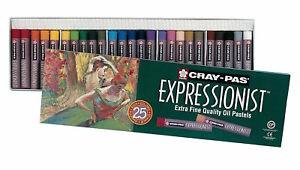 Sakura XLP25 Cray-Pas Expressionist Oil Pastel Colors Art 25 Pack