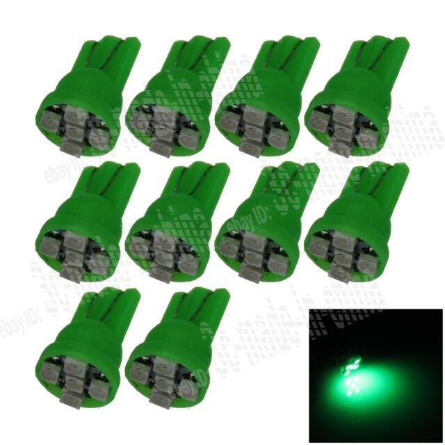 10X Car Green 5 LED 1210 SMD T10 W5W Bulb Wedge Side Light Corner Bulb Lamp A022