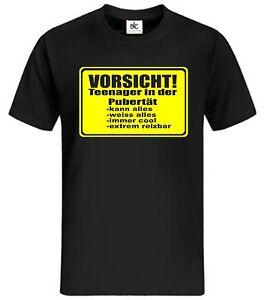 Vorsicht Teenager T Shirt Fun T Shirt Mycultshirt Lustig Spruche