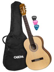 Clever Cascha Hh 2137 Konzertgitarre 4/4 Tasche Picks Die Nieren NäHren Und Rheuma Lindern