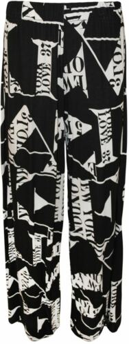 New Ladies Love City Letter Printed Trousers Pants Plus Size Maxi Dress 8-30