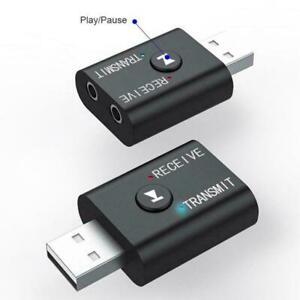 3-in-1 USB Bluetooth 5.0 Audio Receiver Transmitter Wireless Aux Adapter J7A2
