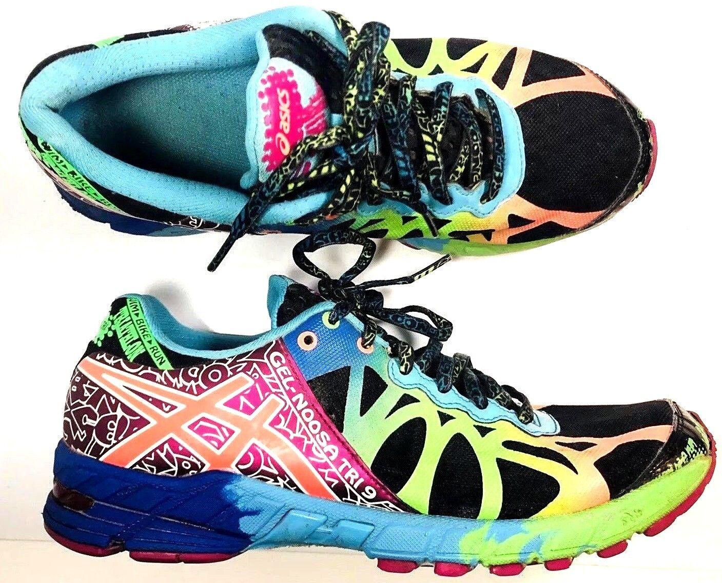 Asics Gel Noosa Tri 9 para Mujer Mujer Mujer MultiColor maratón Zapato de correr TALLA 8 T458N  promociones emocionantes