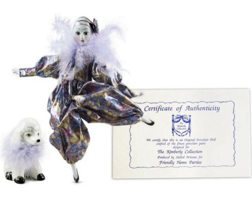 NEW The Kimberly Collection Porcelain Parisian Doll with Poodle NIB