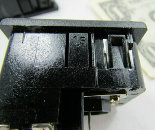 """Lot 2 Snap-In Power Entry Connectors w//Switch 10A 125V 250V 1//4/"""" Spade Terminal"""
