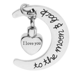 Stainless-Steel-Memorial-Cremation-Urn-Jewelry-Pendant-Ash-Holder-Moon-Heart