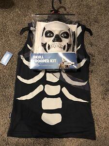 Adult Medium M Fortnite Skull Trooper Costume Kit Mask Shirt