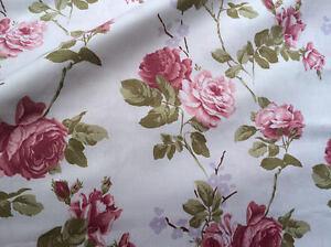 2m stoff baumwolle satin stoffe shabby chic rosen baumwollsatin 153 cm breit ebay. Black Bedroom Furniture Sets. Home Design Ideas