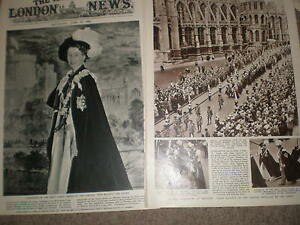 Photo article Queen Elizabeth in habit amp ensigns Order of the Garter 1956 ref Z - <span itemprop=availableAtOrFrom>Ilfracombe, United Kingdom</span> - Happy to reimburse on returns. I try to provide a full description and a good photograph so should you change your mind after purchase I do expect that you will pay return postage. On  - Ilfracombe, United Kingdom