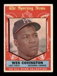 1959-Topps-Set-Break-565-Wes-Covington-All-Star-VG-OBGcards