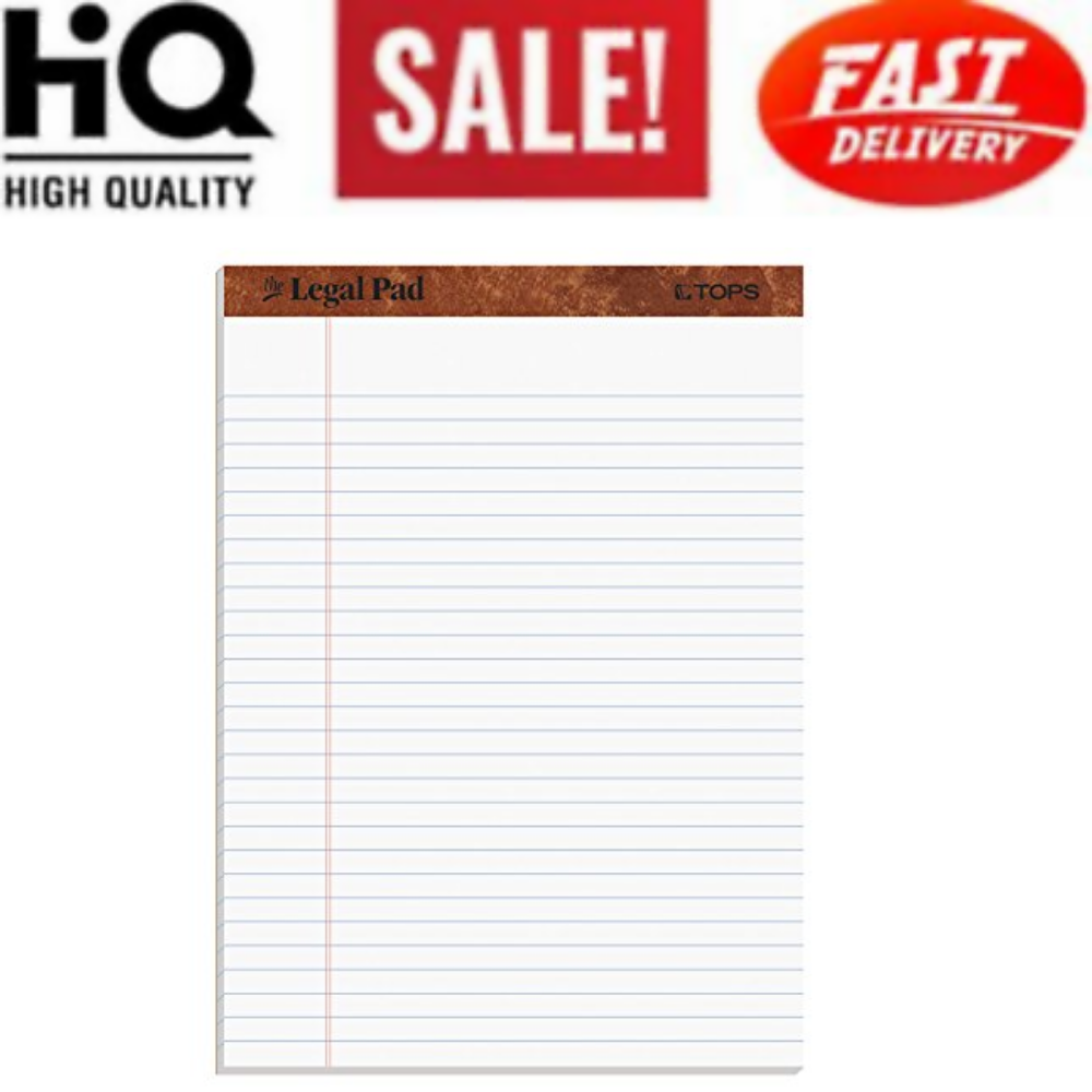 The Legal Pad Writing Pads 8-1/2 x 11-3/4 Legal Rule 50 Sheets Pack of 12 New 1
