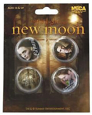 TWILIGHT 4 x 1.5-inch Badge Button Pin Collector Set NEW MERCHANDISE NEW MOON