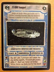 Star Wars CCG Endor YT-1300 Transport NrMint-MINT SWCCG