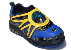 New Black//Yellow Lighted Footwear Batman Boy/'s Athletics Shoes Size 13