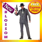 C306 Mens 1920s Gangster Pinstripes Pimp Suit Halloween Fancy Dress Up Costume