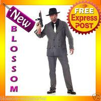 C306 Mens 1920s Gangster Pinstripes Pimp Suit Halloween Fancy Dress Up Costume