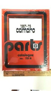1967-75-CAMARO-Parts-Catalog-751A-Reproduction-New-Sealed-Condition