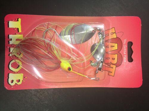 Hart Throb  Vintage Spinner Bait 3//8oz Red Chart Silver 78-372