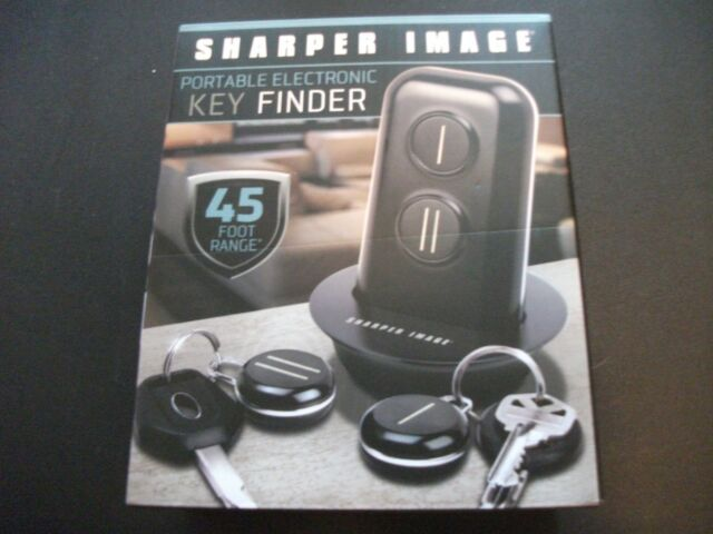 The Sharper Image Portable Electronic Key Finder 45 Ft Range 2 Fobs