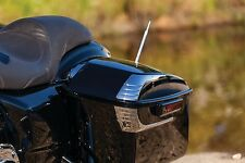 Kuryakyn Chrome Tri Line Saddlebag Lid Accents Trim Harley Touring 2014-2017