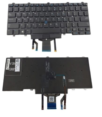 Dell Latitude E5450 E7450 0D19TR Keyboard US Black with Backlit pointing