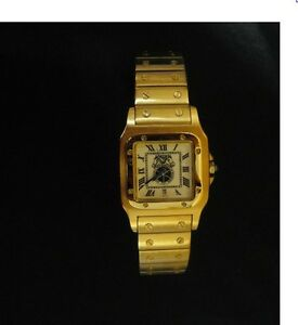 New-Old-Stock-IBT-AFL-CIO-Teamsters-Men-039-s-Watch-Wristwatch-Date-Gold-Tone-aaa-b