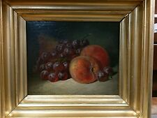 LISTED ARTIST G W Whitaker STILL LIFE OF fruit. OIL ON CANVAS dated 1906