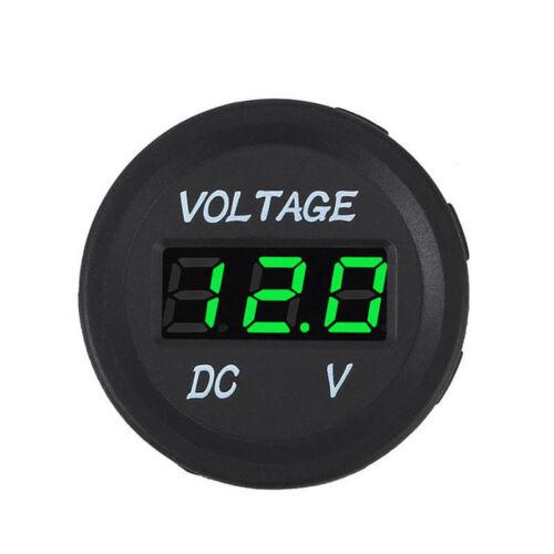 LED Digital Display Voltmeter Car Motor Voltage Volt Gauge Panel Meter 12V//24V