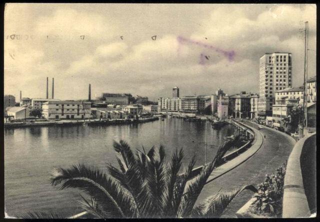 tarjeta postal SAVONA puerto y paseo g. matteotti