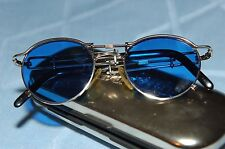 Jean Paul Gaultier 56-0174 Vintage Sunglasses, Silver, Blue Lenses, Great Shape