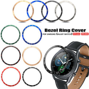 Ringke Bezel Styling for Galaxy Watch 3 45mm Bezel Ring Adhesive Cover Anti Scratch Stainless Steel Protection for Galaxy Watch 3 45mm Accessory