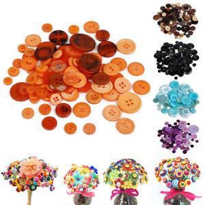 Lots-100Pcs-Round-Resin-Button-Apparel-Sewing-Scrapbook-DIY-Craft-Supplies-Gift