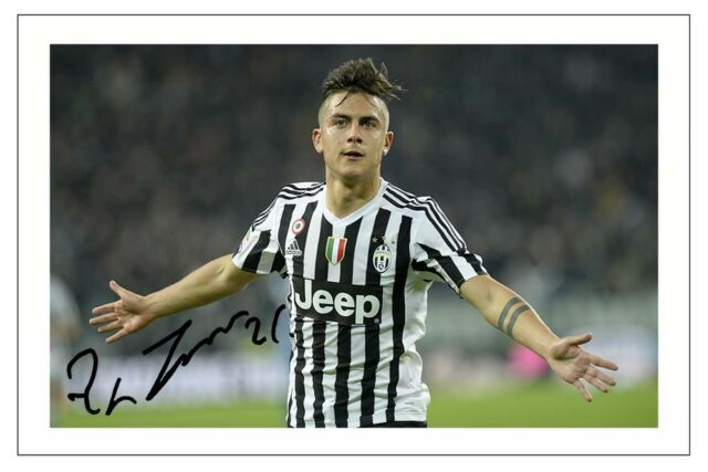 Paulo DYBALA JUVENTUS Autograph Signed Photo Print Soccer for sale online  23bd4ad6a
